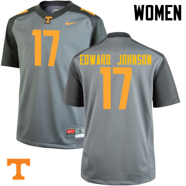Women #17 Brandon Edward Johnson Tennessee Volunteers College Football Jerseys-Gray
