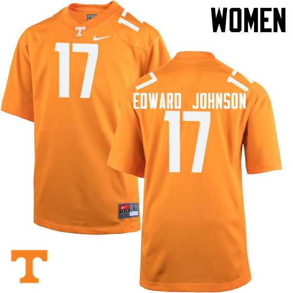 Women #17 Brandon Edward Johnson Tennessee Volunteers College Football Jerseys-Orange