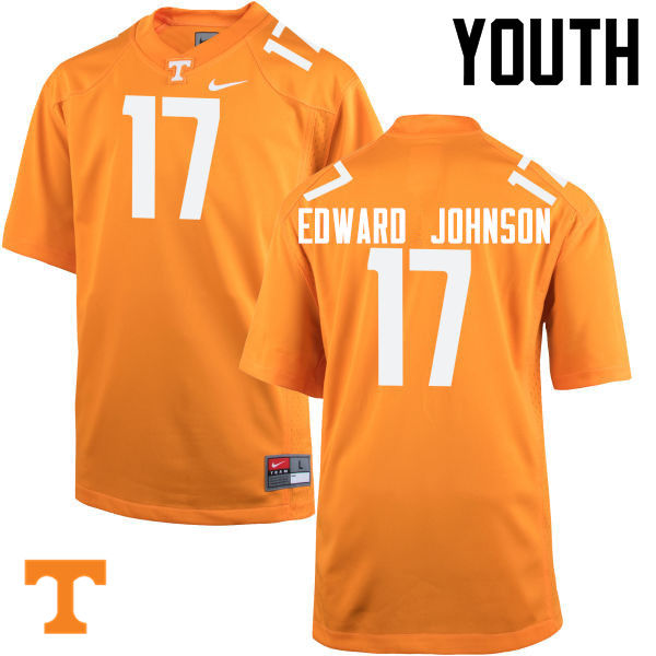 Youth #17 Brandon Edward Johnson Tennessee Volunteers College Football Jerseys-Orange