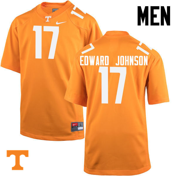 Men #17 Brandon Edward Johnson Tennessee Volunteers College Football Jerseys-Orange