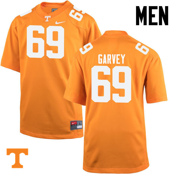 Men #69 Brian Garvey Tennessee Volunteers College Football Jerseys-Orange