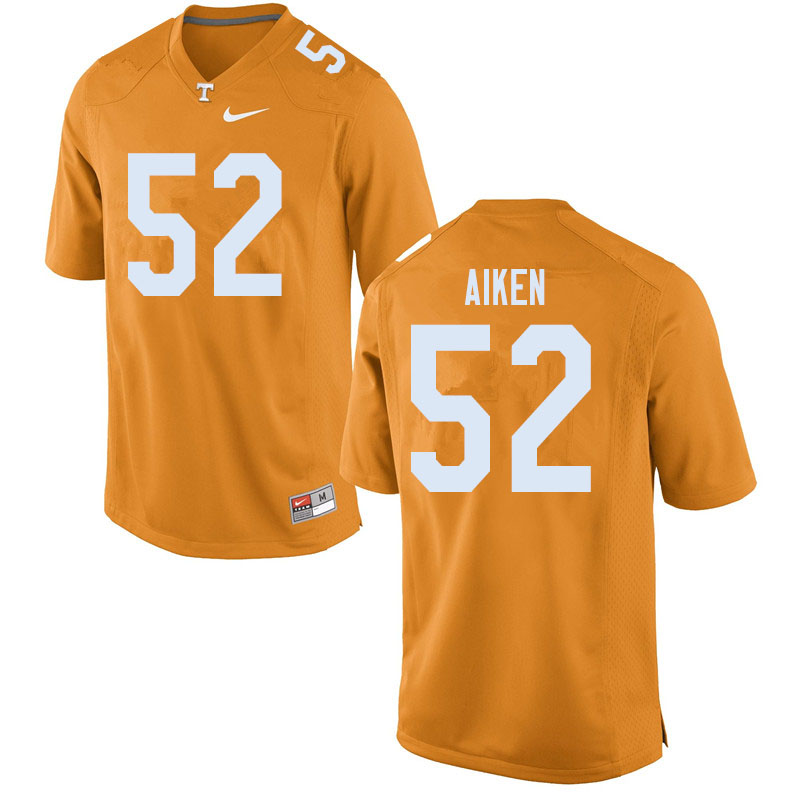 Men #52 Bryan Aiken Tennessee Volunteers College Football Jerseys Sale-Orange