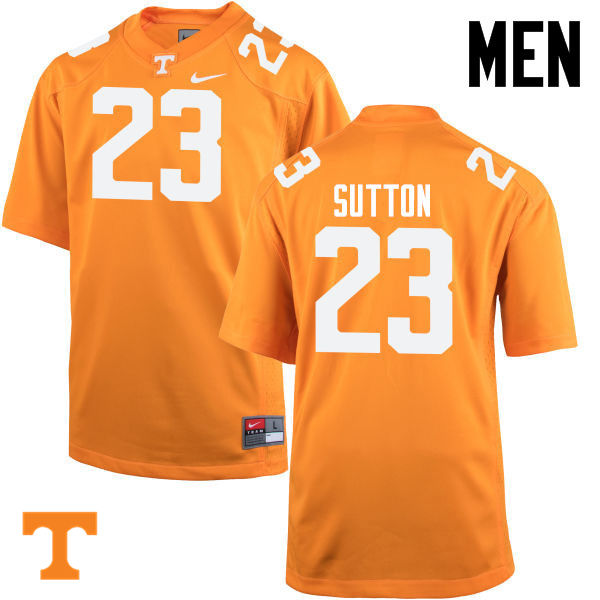 Men #23 Cameron Sutton Tennessee Volunteers College Football Jerseys-Orange