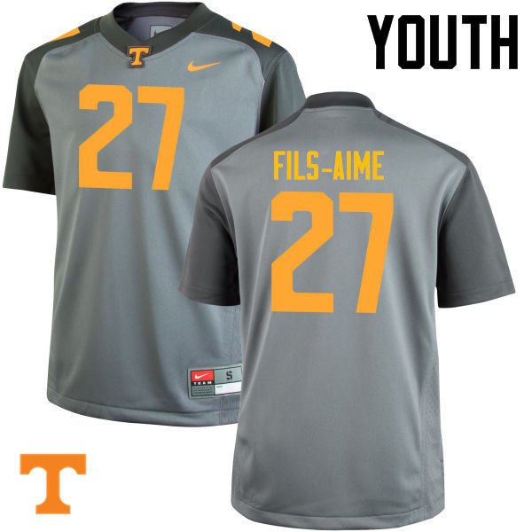 Youth #27 Carlin Fils-Aime Tennessee Volunteers College Football Jerseys-Gray