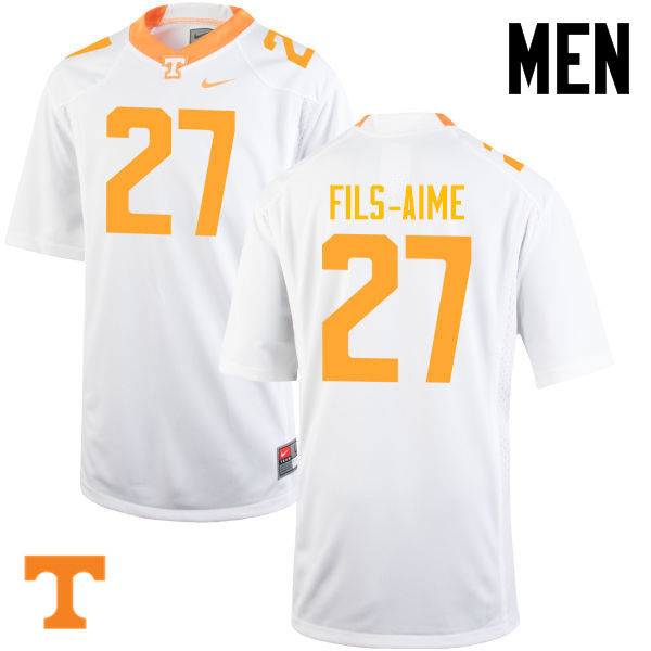 Men #27 Carlin Fils-Aime Tennessee Volunteers College Football Jerseys-White