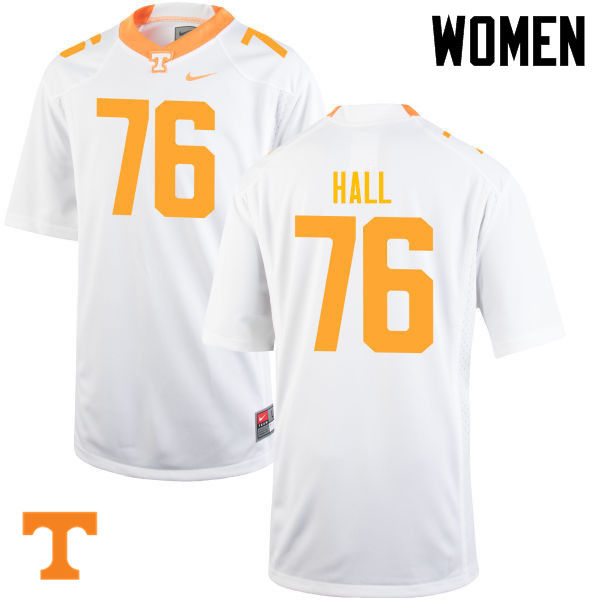Women #76 Chance Hall Tennessee Volunteers College Football Jerseys-White