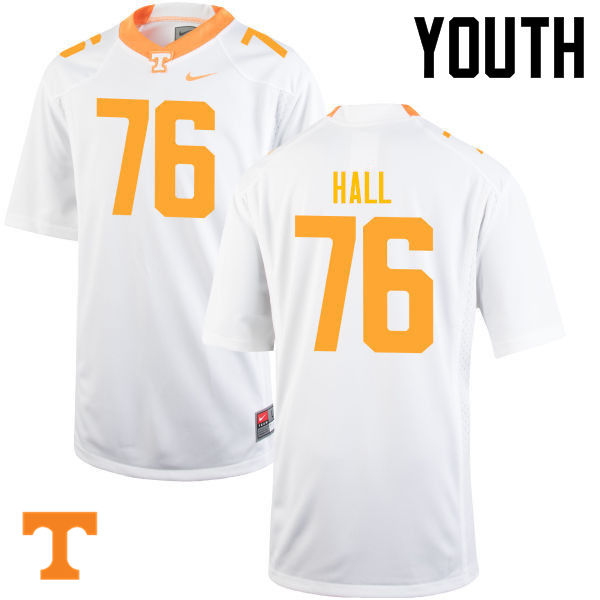 Youth #76 Chance Hall Tennessee Volunteers College Football Jerseys-White