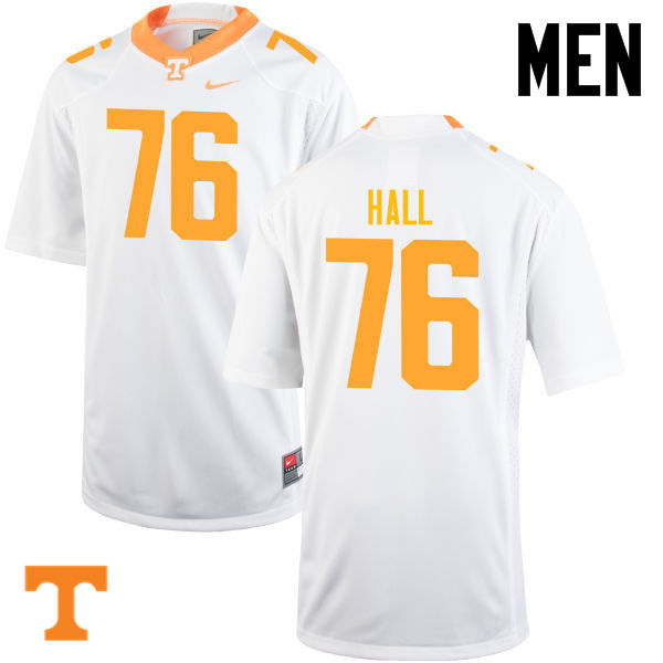 Men #76 Chance Hall Tennessee Volunteers College Football Jerseys-White