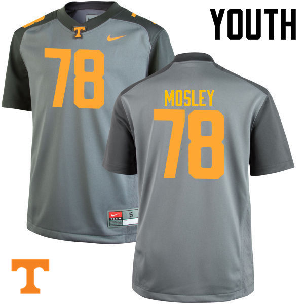 Youth #78 Charles Mosley Tennessee Volunteers College Football Jerseys-Gray