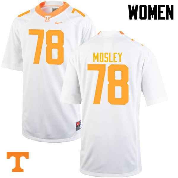 Women #78 Charles Mosley Tennessee Volunteers College Football Jerseys-White