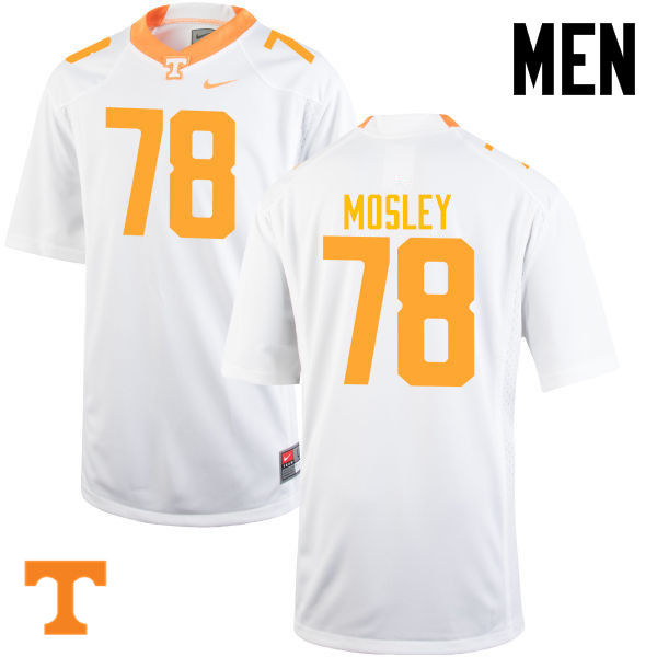 Men #78 Charles Mosley Tennessee Volunteers College Football Jerseys-White