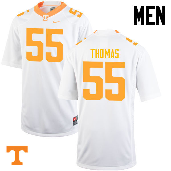 Men #55 Coleman Thomas Tennessee Volunteers College Football Jerseys-White