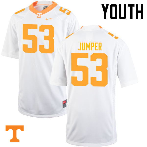Youth #53 Colton Jumper Tennessee Volunteers College Football Jerseys-White