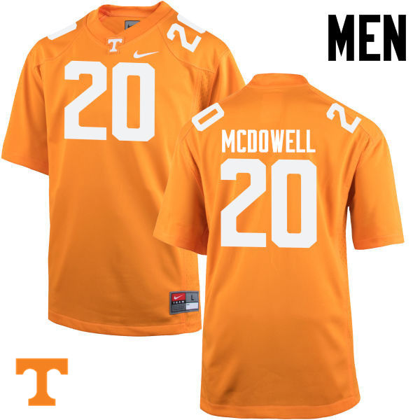 Men #20 Cortez McDowell Tennessee Volunteers College Football Jerseys-Orange