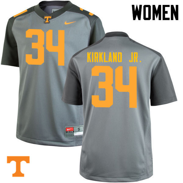 Women #34 Darrin Kirkland Jr. Tennessee Volunteers College Football Jerseys-Gray