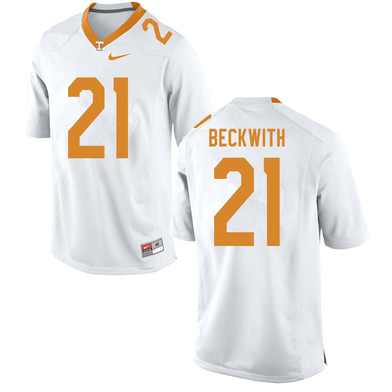 Men #21 Dee Beckwith Tennessee Volunteers College Football Jerseys Sale-White