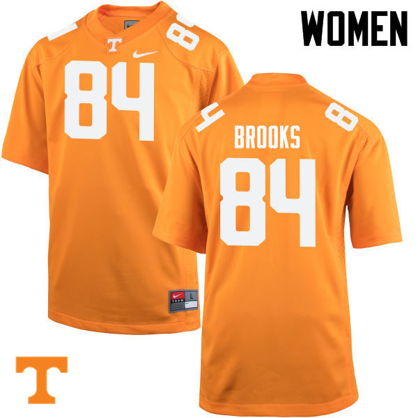 Women #84 Devante Brooks Tennessee Volunteers College Football Jerseys-Orange