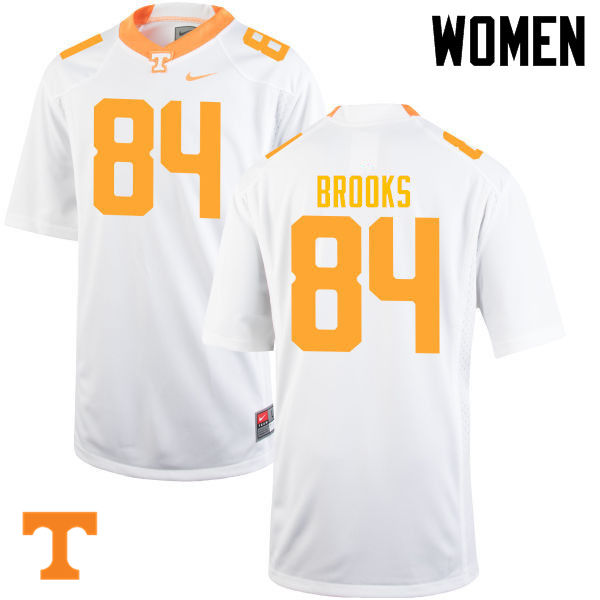 Women #84 Devante Brooks Tennessee Volunteers College Football Jerseys-White