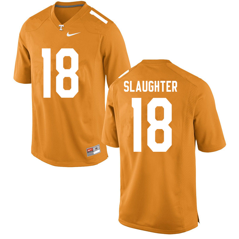 Men #18 Doneiko Slaughter Tennessee Volunteers College Football Jerseys Sale-Orange