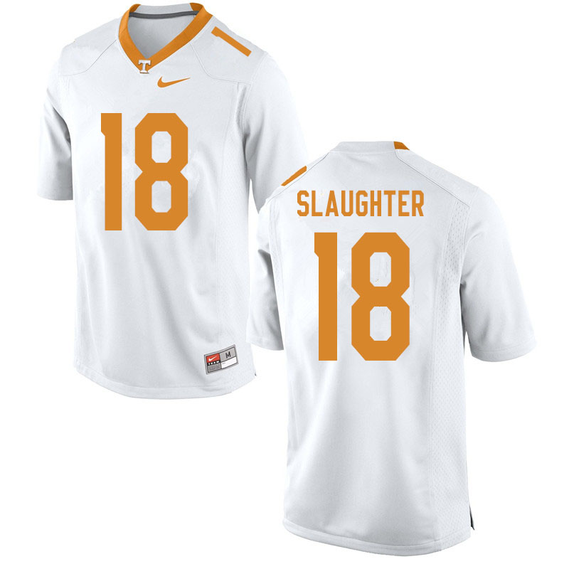 Men #18 Doneiko Slaughter Tennessee Volunteers College Football Jerseys Sale-White