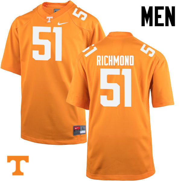 Men #51 Drew Richmond Tennessee Volunteers College Football Jerseys-Orange