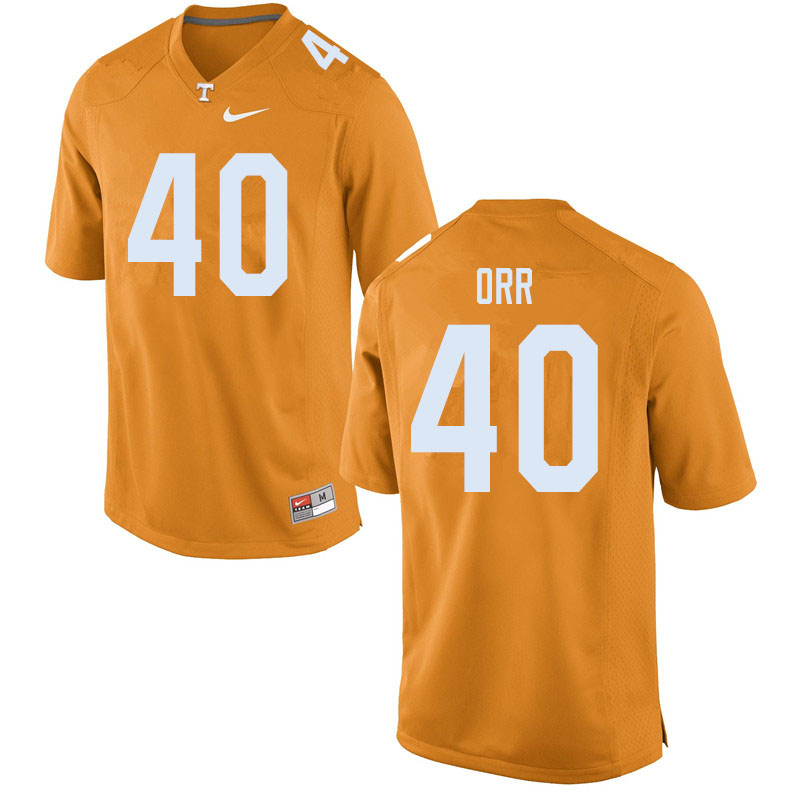 Men #40 Fred Orr Tennessee Volunteers College Football Jerseys Sale-Orange