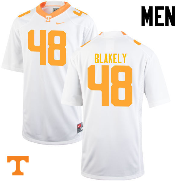 Men #48 Ja'Quain Blakely Tennessee Volunteers College Football Jerseys-White