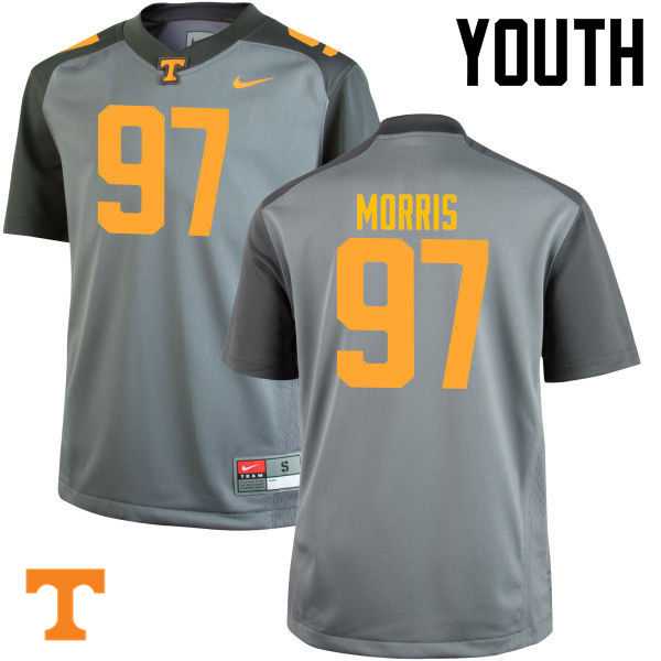 Youth #97 Jackson Morris Tennessee Volunteers College Football Jerseys-Gray