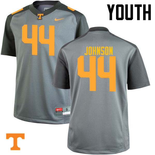 Youth #44 Jakob Johnson Tennessee Volunteers College Football Jerseys-Gray