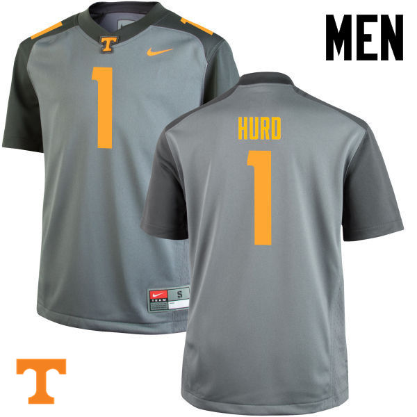 Men #1 Jalen Hurd Tennessee Volunteers College Football Jerseys-Gray