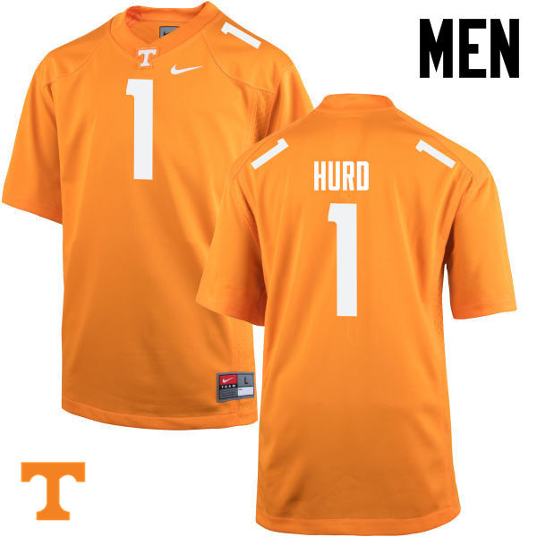 Men #1 Jalen Hurd Tennessee Volunteers College Football Jerseys-Orange
