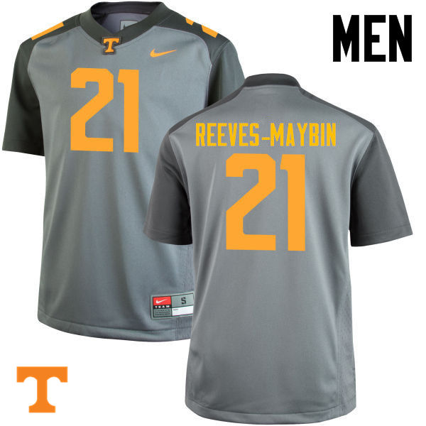 Men #21 Jalen Reeves-Maybin Tennessee Volunteers College Football Jerseys-Gray