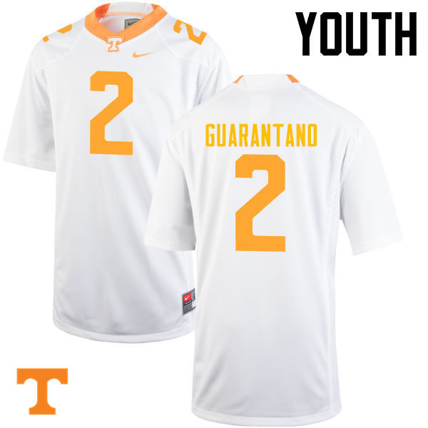 Youth #2 Jarrett Guarantano Tennessee Volunteers College Football Jerseys-White
