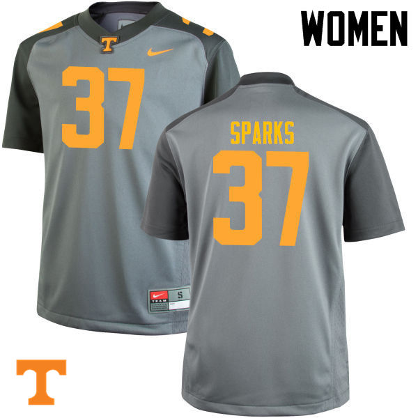 Women #37 Jayson Sparks Tennessee Volunteers College Football Jerseys-Gray