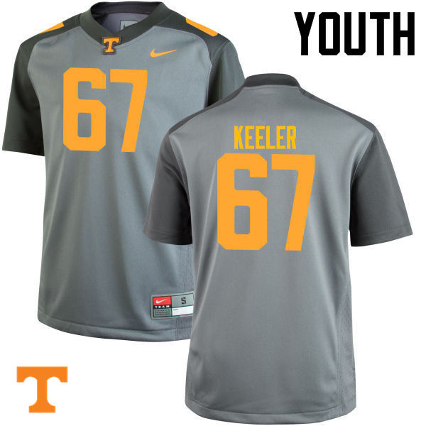 Youth #67 Joe Keeler Tennessee Volunteers College Football Jerseys-Gray
