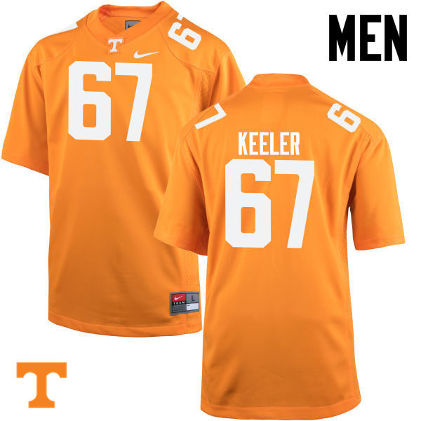 Men #67 Joe Keeler Tennessee Volunteers College Football Jerseys-Orange