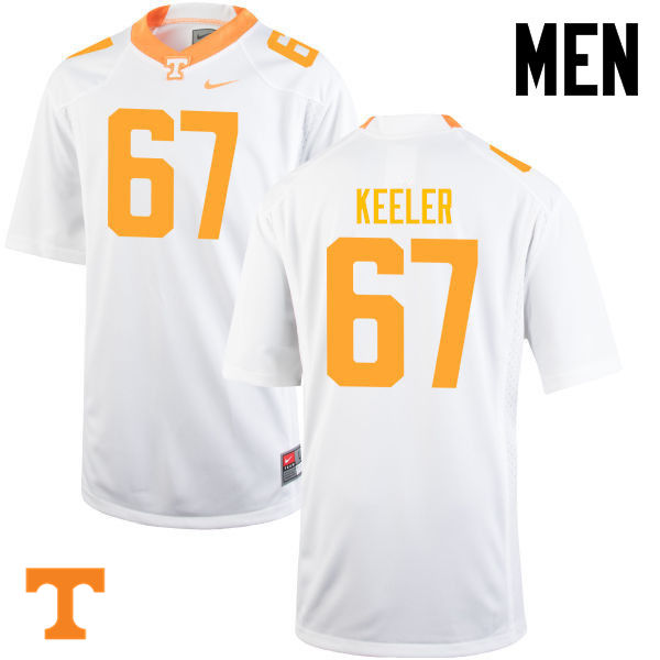 Men #67 Joe Keeler Tennessee Volunteers College Football Jerseys-White