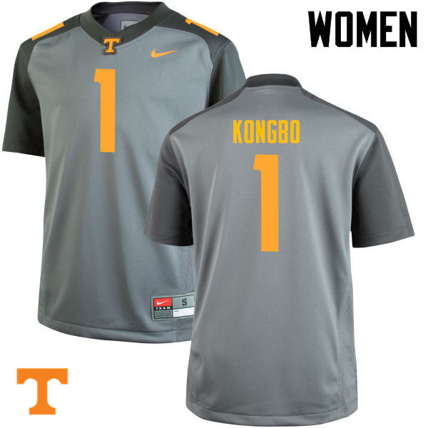 Women #1 Jonathan Kongbo Tennessee Volunteers College Football Jerseys-Gray
