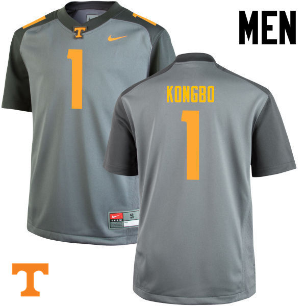Men #1 Jonathan Kongbo Tennessee Volunteers College Football Jerseys-Gray