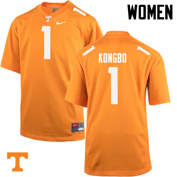 Women #1 Jonathan Kongbo Tennessee Volunteers College Football Jerseys-Orange