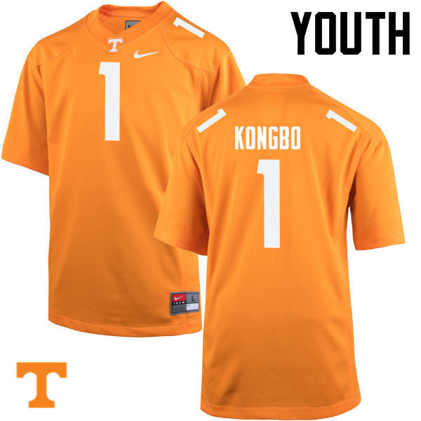 Youth #1 Jonathan Kongbo Tennessee Volunteers College Football Jerseys-Orange