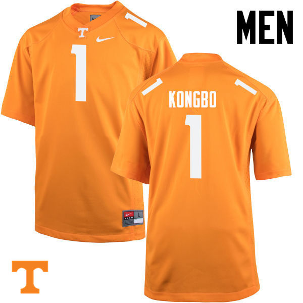 Men #1 Jonathan Kongbo Tennessee Volunteers College Football Jerseys-Orange