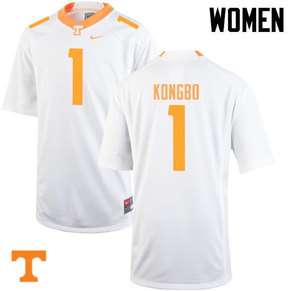 Women #1 Jonathan Kongbo Tennessee Volunteers College Football Jerseys-White