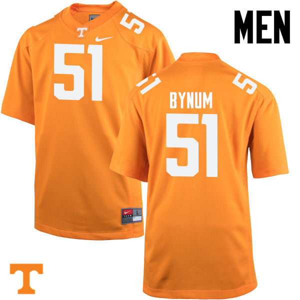 Men #51 Kenny Bynum Tennessee Volunteers College Football Jerseys-Orange