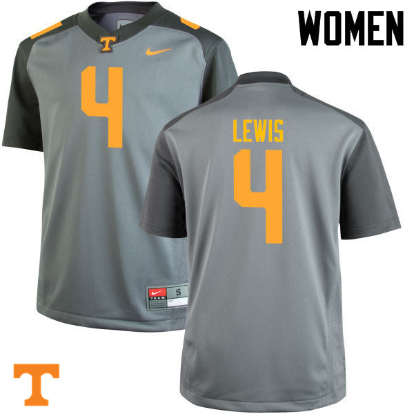 Women #4 LaTroy Lewis Tennessee Volunteers College Football Jerseys-Gray