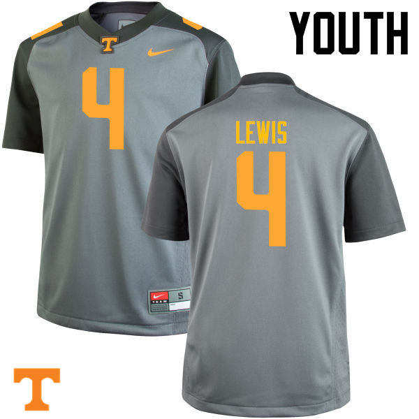 Youth #4 LaTroy Lewis Tennessee Volunteers College Football Jerseys-Gray