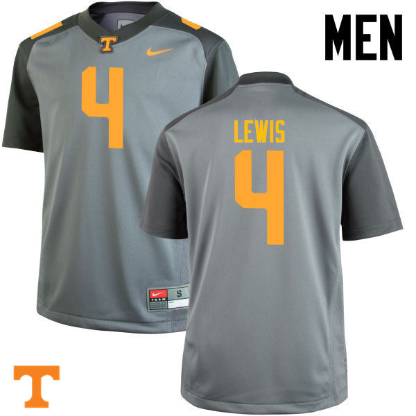 Men #4 LaTroy Lewis Tennessee Volunteers College Football Jerseys-Gray