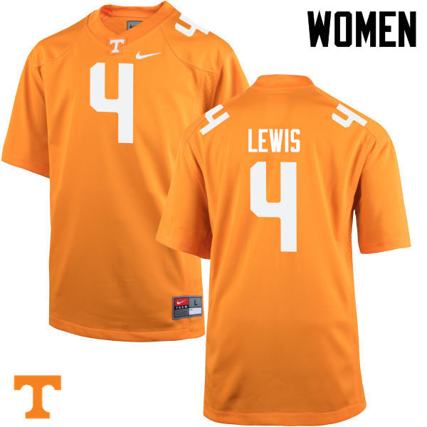 Women #4 LaTroy Lewis Tennessee Volunteers College Football Jerseys-Orange