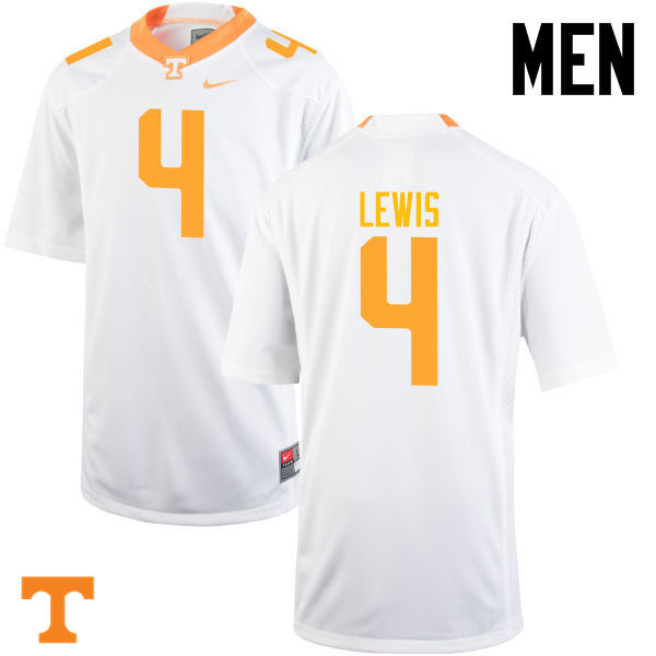 Men #4 LaTroy Lewis Tennessee Volunteers College Football Jerseys-White