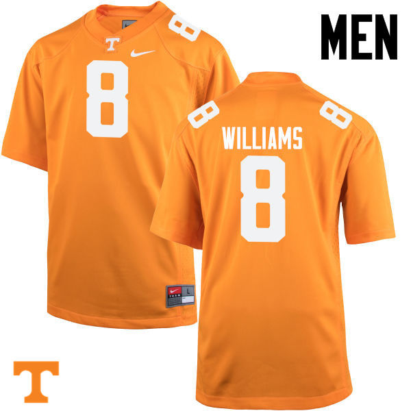 Men #8 Latrell Williams Tennessee Volunteers College Football Jerseys-Orange
